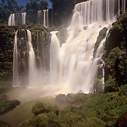 Argentina, Igwazu Falls, Falls, Salto Bossetti thunders into the river below.