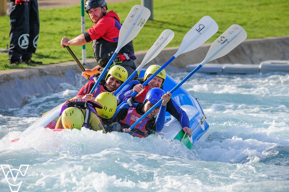 Metro Blind Sport / East London Vision (ELVis) white water rafting event at Lee Valley White Water Centre.<br /> <br /> Picture: Chris Vaughan Photography<br /> Date: June 20, 2017