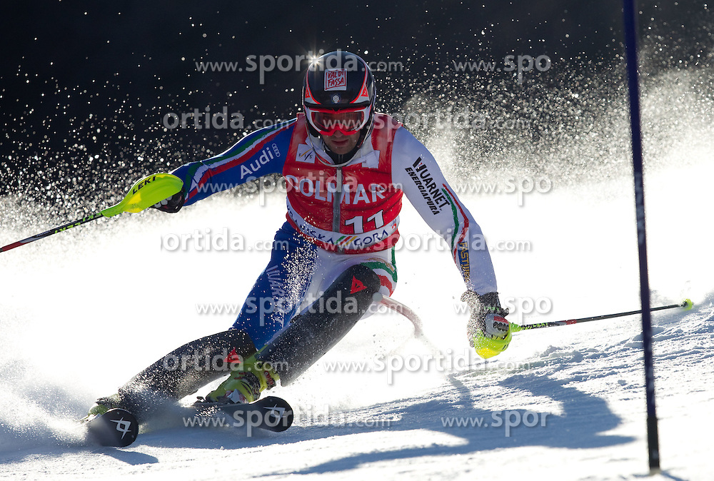 Cristian Deville of Italy competes during  1st Run of Men's Slalom of FIS Ski World Cup Alpine Kranjska Gora, on March 6, 2011 in Vitranc/Podkoren, Kranjska Gora, Slovenia.  (Photo By Vid Ponikvar / Sportida.com)