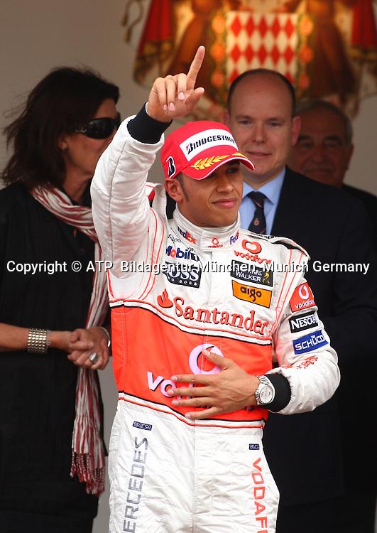 Monaco 25.05.2008 - Formula 1 Grand Prix of Monaco - Lewis HAMILTON, Team McLaren-Mercedes  after winning in Monaco 2008 - Monte Carlo, Formel 1 -  F1 GP de Monaco - Foto: © ATP Stephane MAYOR
