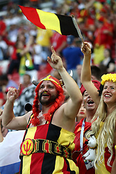 Belgium fans before the game