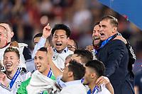 Fussball  International U 21 Europameisterschaft 2017 in Krakau 30.06.2017 Finale Deutschland - Spanien JUBEL Deutschland; Trainer Stefan Kuntz (re) und Torschuetze zum 1-0 Mitchell Weiser (li)