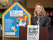 Julie Baker Finck comments during a news conference at Walnut Bend Elementary School launching Read Aloud Month, March 1, 2016.