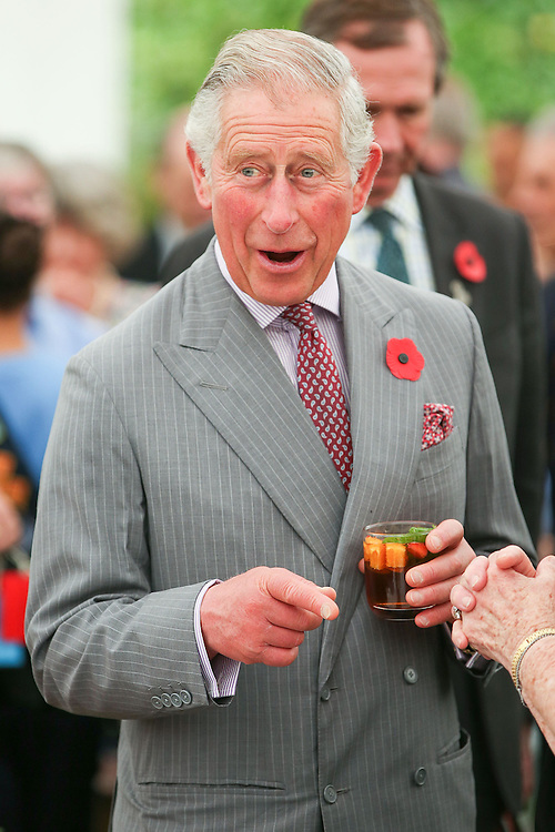 Prince Charles, Prince of Wales enjoys a laugh during the 'Tea With Taranaki' event at Brooklands Park , New Plymouth, New Zealand, New Zealand, Monday, November 09, 2015. Credit:SNPA / Getty, Hagen Hopkins  **POOL**