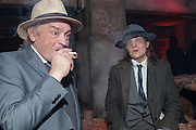 JOHN COXAK; BASIL VALENTINE, Interzone celebrating William Burroughs 100 years presented by Guerrilla Zoo. Held at a secret location- a bunker  in Charlton.