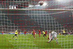 19.11.2011, Allianz Arena, Muenchen, GER, 1.FBL, FC Bayern Muenchen vs Borussia Dortmund, im Bild Tor zum 0-1 durch Mario Goetze (Gštze) (BVB #11) // during the match FC Bayern Muenchen vs  Borussia Dortmund, on 2011/11/19, Allianz Arena, Munich, Germany. EXPA Pictures © 2011, PhotoCredit: EXPA/ nph/ Straubmeier..***** ATTENTION - OUT OF GER, CRO *****