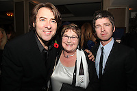 Jonathan Ross, Noel Gallagher and Pauline Etkin (Nordoff-Robbins)