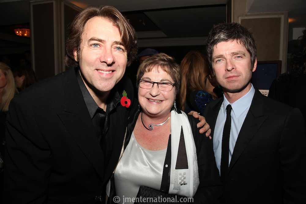Jonathan Ross, Noel Gallagher and Pauline Etkin (Nordoff-Robbins)