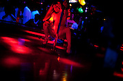 A dancer at the world famous Mons Venus strip club in Tampa, Florida.