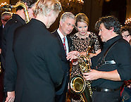 King Philippe and Reine Mathilde at the Autumn Concert at the Palais Royal