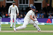 Jonny Bairstow of England reverse sweeps Nathan Lyon of Australia during the International Test Match 2019 match between England and Australia at Lord's Cricket Ground, St John's Wood, United Kingdom on 18 August 2019.