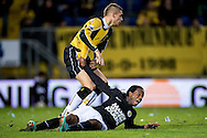 Onderwerp/Subject: NAC Breda - RKC Waalwijk - Eredivisie<br /> Reklame:  <br /> Club/Team/Country: <br /> Seizoen/Season: 2012/2013<br /> FOTO/PHOTO: Florian JOZEFZOON (ON GROUND) of RKC Waalwijk claims a penalty after a duel with Jens JANSE (L) of NAC Breda. (Photo by PICS UNITED)<br /> <br /> Trefwoorden/Keywords: <br /> #03 #04 #05 $94 ±1342772543138 ±1342772543138<br /> Photo- & Copyrights © PICS UNITED <br /> P.O. Box 7164 - 5605 BE  EINDHOVEN (THE NETHERLANDS) <br /> Phone +31 (0)40 296 28 00 <br /> Fax +31 (0) 40 248 47 43 <br /> http://www.pics-united.com <br /> e-mail : sales@pics-united.com (If you would like to raise any issues regarding any aspects of products / service of PICS UNITED) or <br /> e-mail : sales@pics-united.com   <br /> <br /> ATTENTIE: <br /> Publicatie ook bij aanbieding door derden is slechts toegestaan na verkregen toestemming van Pics United. <br /> VOLLEDIGE NAAMSVERMELDING IS VERPLICHT! (© PICS UNITED/Naam Fotograaf, zie veld 4 van de bestandsinfo 'credits') <br /> ATTENTION:  <br /> © Pics United. Reproduction/publication of this photo by any parties is only permitted after authorisation is sought and obtained from  PICS UNITED- THE NETHERLANDS