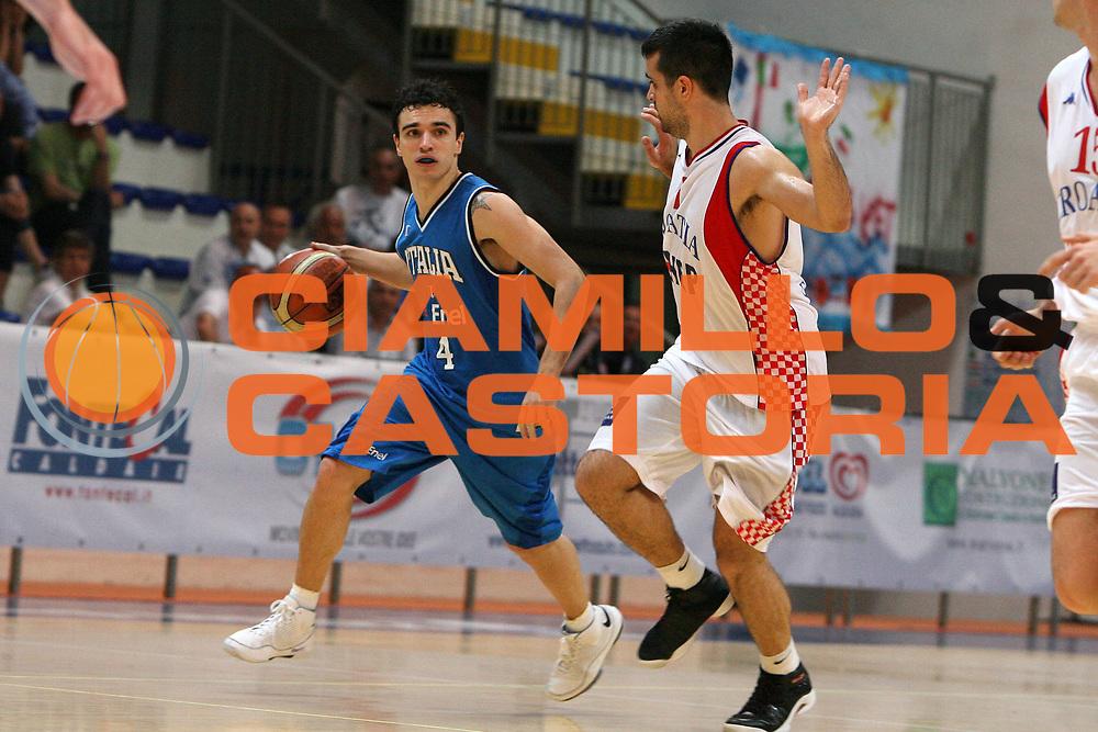 DESCRIZIONE : Roseto degli Abruzzi Torneo Bandiera Blu Italia Croazia<br /> GIOCATORE : Marco Passera<br /> SQUADRA : Nazionale Italia Uomini <br /> EVENTO : Torneo Internazionale Bandiera Blu di Roseto degli Abruzzi<br /> GARA : Italia Croazia<br /> DATA : 30/05/2008 <br /> CATEGORIA : palleggio<br /> SPORT : Pallacanestro <br /> AUTORE : Agenzia Ciamillo-Castoria/E.Castoria