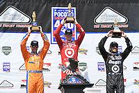 Scott Dixon, Charlie Kimball, Dario Franchitti, Pocono INDYCAR 400, Pocono Raceway, Long Pond, PA USA 07/0723/13