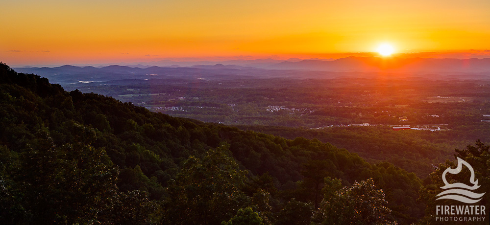 Greenville Sunset from Altamont/Paris Mountain Area - Greenville, SC