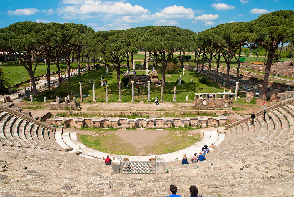 The splendid site of enormous archeological interest: imperial Rome's mercantile harbour of Ostia along the Tiber river  made the settlement so prosperous.