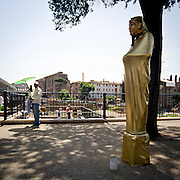 Statua Vivente a Roma.Living statue in Rome