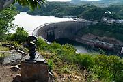 Nyami Nyami's (Zambezi River God or Zambezi Snake spirit) statue near Lake Kariba dam, Zimbabwe