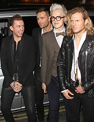 © Licensed to London News Pictures. 03/12/2014, UK. Danny Jone, Harry Judd, Tom Fletcher & Dougie Poynter,, Cosmopolitan Ultimate Women of the Year Awards, One Mayfair, London UK, 03 December 2014. Photo credit : Brett D. Cove/Piqtured/LNP