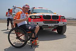 January 5, 2019 - Lima, Lima, Peru - BMW 324, Isidre Esteve wheelchair rider from Spain,  Repsol Rally team, passing the technical scrutineering. The Dakar rally runs this year 100% in Peru. (Credit Image: © Carlos Garcia Granthon/ZUMA Wire)