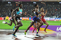 Athletics - 2017 IAAF London World Athletics Championships - Day Six<br /> <br /> Women's 400m  Final<br /> <br /> Phyllis Francis of USA wins the Gold medal ahead of Allyson Felix and Shaunae Miller - Uibo of  Bahamas, who broke down 10 yards from the finish line at the London Stadium.<br /> <br /> COLORSPORT/ANDREW COWIE