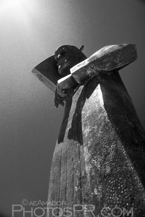 San Juan Bautista statue