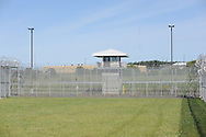 An inside yard is seen as media members tour the newest prison in Pennsylvania Friday, September 01, 2017 at State Correction Institution Phoenix in Skippack, Pennsylvania. The facility is inching closer to opening, two years late, to replace Graterford Prison at a cost of $400 million. (Photo by William Thomas Cain/CAIN IMAGES)