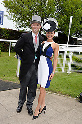 SAMANTHA BARKS and ROSS WITHERDEN at the Investec Derby 2013 held at Epsom Racecourse, Epsom, Surrey on 1st June 2013.