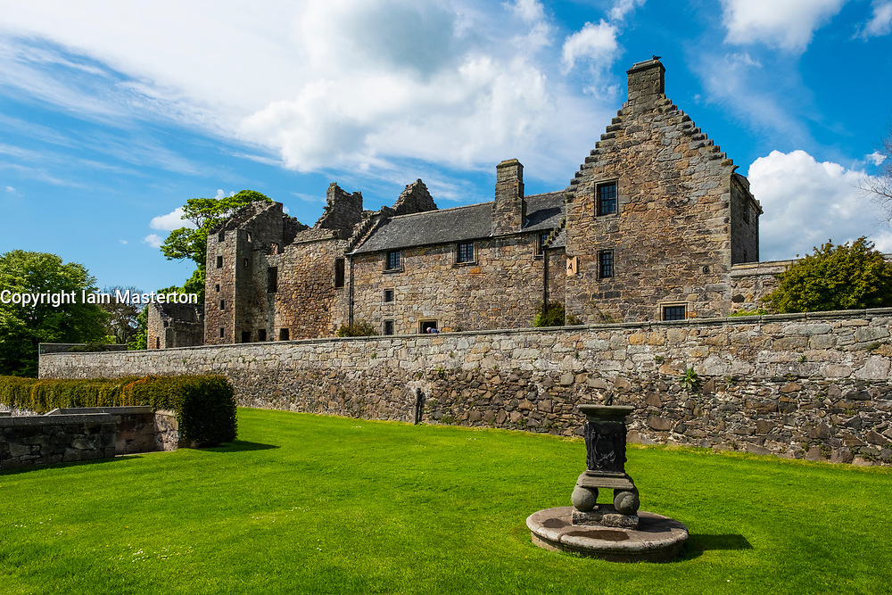 Aberdour Castle in Fife Scotland UK