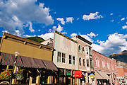 Historic downtown buildings, Telluride, Colorado