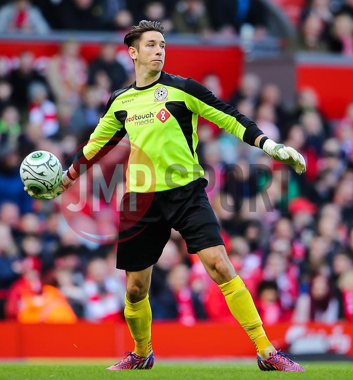 Brad Jones in action for the Gerrard XI - Photo mandatory by-line: Matt McNulty/JMP - Mobile: 07966 386802 - 29/03/2015 - SPORT - Football - Liverpool - Anfield Stadium - Gerrard's Squad v Carragher's Squad - Liverpool FC All stars Game