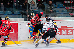 22.10.2016, Ice Rink, Znojmo, CZE, EBEL, HC Orli Znojmo vs Dornbirner Eishockey Club, 13. Runde, im Bild v.l. Teddy Da Costa (HC Orli Znojmo) Jiri Beroun (HC Orli Znojmo) Charlie Sarault (Dornbirner) Nicolas Petrik (Dornbirner) // during the Erste Bank Icehockey League 13th round match between HC Orli Znojmo and Dornbirner Eishockey Club at the Ice Rink in Znojmo, Czech Republic on 2016/10/22. EXPA Pictures © 2016, PhotoCredit: EXPA/ Rostislav Pfeffer