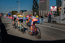 Breakaway with TJALLINGII Maarten from the Netherlands of Team Lotto NL - Jumbo (NED) at the 2nd lap (1000M) from the finish line on the John Frost Bridge 'A Bridge Too Far', stage 3 from Nijmegen to Arnhem running 190 km of the 99th Giro d'Italia (UCI WorldTour), The Netherlands, 8 May 2016. Photo by Pim Nijland / PelotonPhotos.com   All photos usage must carry mandatory copyright credit (Peloton Photos   Pim Nijland)