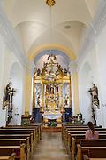 Paulinerkloster Mariahilf, Kirche innen, Passau, Bayerischer Wald, Bayern, Deutschland | abbey church Mariahilf, Passau, Bavarian Forest, Bavaria, Germany