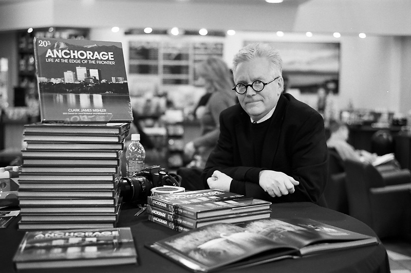 ANCHORAGE, AK - 2007: Anchorage, Alaska based portrait photographer Clark James Mishler at his book signing in Anchorage, Alaska.
