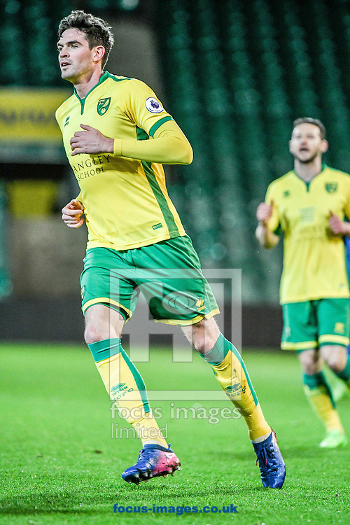 Kyle Lafferty of Norwich City U23 v Dinamo Zagreb U23 during the Premier League International Cup Quarter-Final match at Carrow Road, Norwich<br /> Picture by Matthew Usher/Focus Images Ltd +44 7902 242054<br /> 27/02/2017