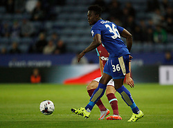 Joe Dodoo of Leicester City in action  - Mandatory byline: Jack Phillips/JMP - 07966386802 - 22/09/2015 - SPORT - FOOTBALL - Leicester - King Power Stadium - Leicester City v West Ham United - Capital One Cup Round 3