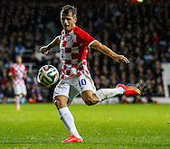 Anas Sharbini of Croatia during the International Friendly match at the Boleyn Ground, London<br /> Picture by David Horn/Focus Images Ltd +44 7545 970036<br /> 12/11/2014
