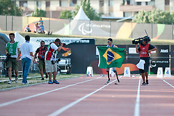 Behind the scenes, OLIVEIRA Alan Fonteles, BRA, 400m, T44, 2013 IPC Athletics World Championships, Lyon, France