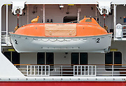 Totally enclosed lifeboat TELB on Cruise Ship