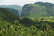 View of the valley of Vinales, Cuba.