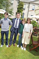 DANIEL & LADY SARAH CHATTO and their sons left SAMUEL and right ARTHURat a luncheon hosted by Cartier for their sponsorship of the Style et Luxe part of the Goodwood Festival of Speed at Goodwood House, West Sussex on 1st July 2012.