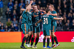 15-05-2019 NED: De Graafschap - Ajax, Doetinchem<br /> Round 34 / It wasn't really exciting anymore, but after the match against De Graafschap (1-4) it is official: Ajax is champion of the Netherlands / Matthijs de Ligt #4 of Ajax, Rasmus Kristensen #2 of Ajax, Daley Blind #17 of Ajax, Nicolas Tagliafico #31 of Ajax