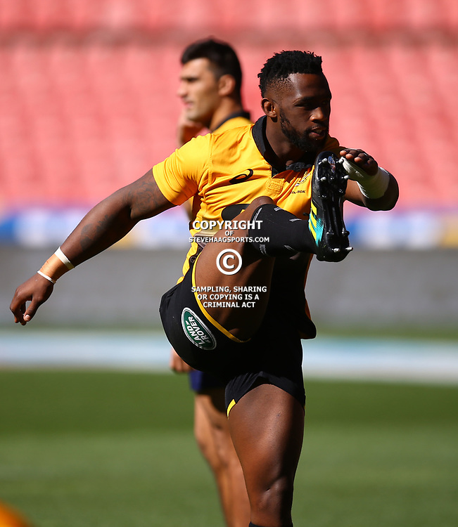Siya Kolisi (captain) of South Africa during the South African - Springbok Captain's Run at Emirates Airline Park,<br /> Johannesburg .South Africa. 08,06,2018 Photo by (Steve Haag Sports)