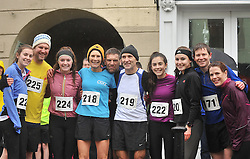 The Murphy's and extended family & friends participating in the Streets of Westport 5K run on New Year's Day.<br /> Pic Conor McKeown
