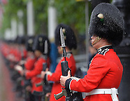 Trooping the Colour Wet 2014