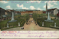 Zagreb : Zrinjski trg. <br /> <br /> Impresum[S. l. : S. n., 1905].<br /> Materijalni opis1 razglednica : tisak ; 8,9 x 13,6 cm.<br /> Vrstavizualna građa • razglednice<br /> ZbirkaZbirka razglednica • Grafička zbirka NSK<br /> Formatimage/jpeg<br /> PredmetZagreb –– Trg Nikole Šubića Zrinskog<br /> SignaturaRZG-ZRIN-7<br /> Obuhvat(vremenski)20. stoljeće<br /> NapomenaRazglednica je putovala 1905. godine. • Poleđina razglednice namijenjena je samo za adresu.<br /> PravaJavno dobro<br /> Identifikatori000953212<br /> NBN.HRNBN: urn:nbn:hr:238:037482 <br /> <br /> Izvor: Digitalne zbirke Nacionalne i sveučilišne knjižnice u Zagrebu