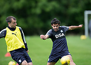 Dundee new boy Sofien Moussa and Paul McGowan during Dundee FC training at Michelin Grounds, Dundee, Photo: David Young<br /> <br />  - &copy; David Young - www.davidyoungphoto.co.uk - email: davidyoungphoto@gmail.com