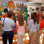Expositie kunstwerken kinderen in de Bonte Ezel Huizen van Christa Rosier
