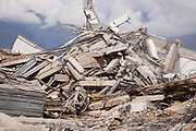 Remain of Hotel Roa Roa destroyed after a 7.5 earthquake magnitude hit off the coast of Donggala, Palu Sulawesi Central, Indonesia on Sept. 28th causing a tsunami.  About 50 people were trapped inside and perished.